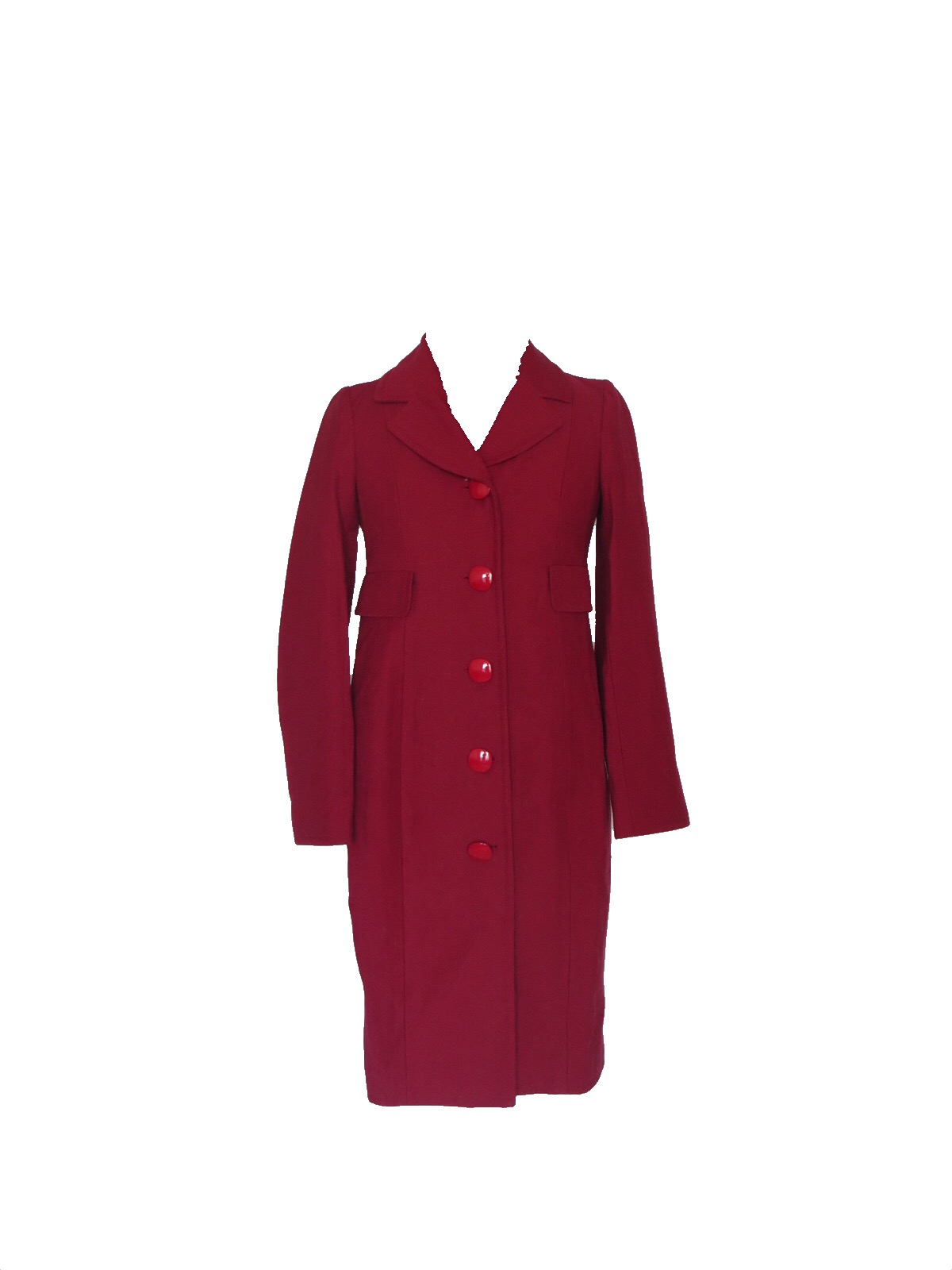 e79a88ec4e0dd Size 4 Moschino Cheap & Chic Red Wool Coat - Wooden Hanger
